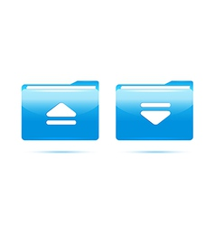 blue folder download vector image