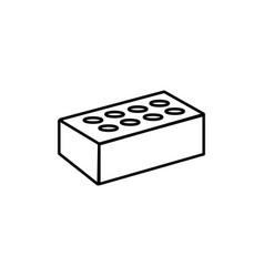 brick icon vector image