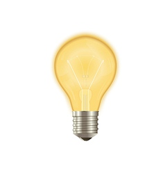 Bulb on vector image