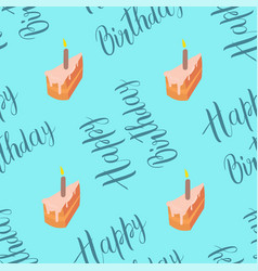 cake seamless pattern with inscription vector image