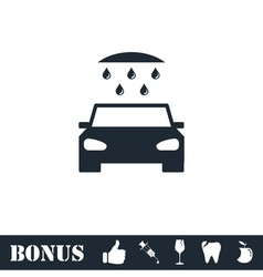 Car wash icon flat vector image