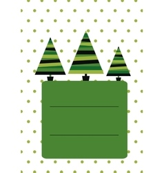 Christmas card template New Year vector