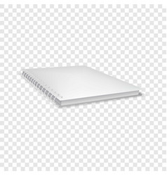 Closed notebook icon realistic style vector