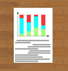 Color bar chart vector