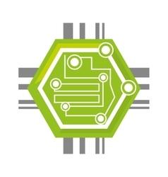 Computer circuit hexagon electronic component vector