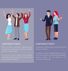corporate party poster vector image