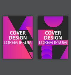 cover design poster with colorful gradients vector image
