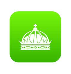 crown icon digital green vector image