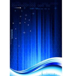 Dark blue composition vector image vector image