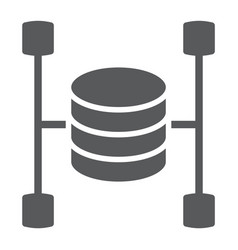 Data warehouse glyph icon data and analytics vector