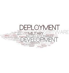 Deployment word cloud concept vector