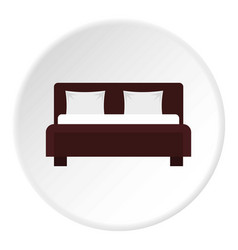 Double bed icon circle vector