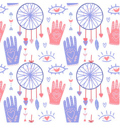 flat seamless pattern boho background for vector image