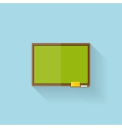 Flat web internet icon School study board vector image