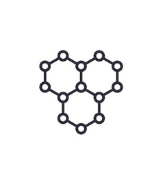 graphene atomic carbon structure icon vector image