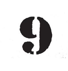 grunge digit texture vector image