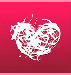 grunge splash heart vector image