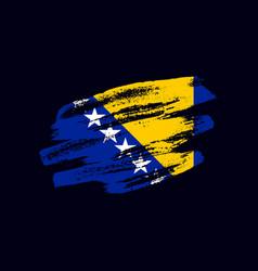 Grunge textured bosnian flag vector