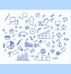 hand drawn business doodle element vector image
