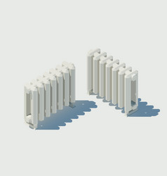 isometric cast iron radiator low poly vector image