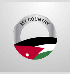 jordan my country flag badge vector image