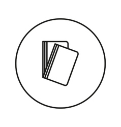 line folder Icon vector image