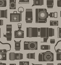 Modern and retro photo technics vector image