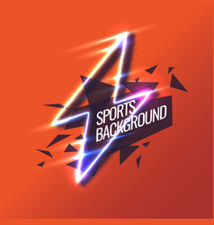 modern colored background for sports vector image