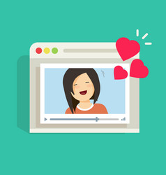 online remote dating concept video communication vector image