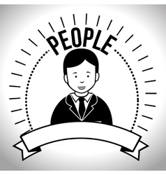 People profile retro design vector