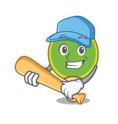 playing baseball ping pong racket character vector image