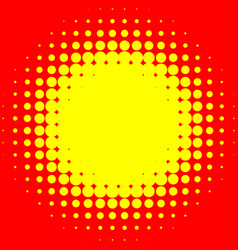 Popart halftone pattern background yellow and red vector