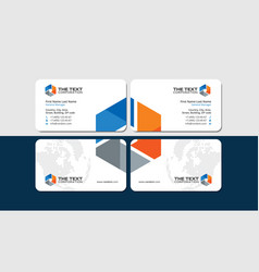 Power and energy business cards vector