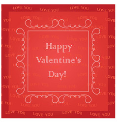 red background - happy valentines day vector image