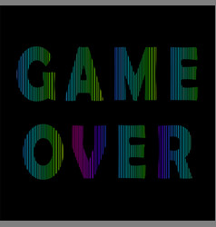 retro game over neon sign gaming concept video vector image