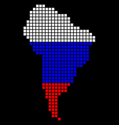 russia colors dot south america map vector image