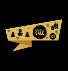sale banner design template winter discount vector image