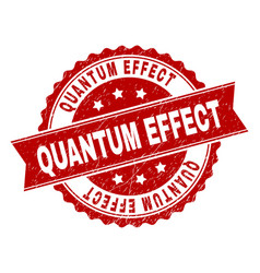Scratched textured quantum effect stamp seal vector