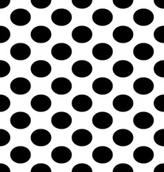 seamless with black dots vector image