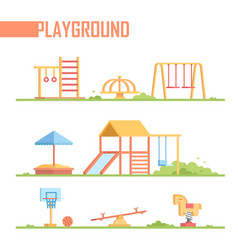 Set of playground elements - modern cartoon vector
