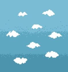 Sky pixel art vector image