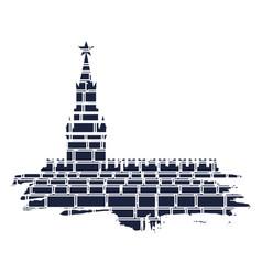 Spasskaya tower kremlin in moscow vector