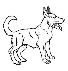 stylized dog vector image