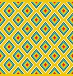 textile print bright rhombuses repeat vector image