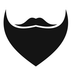 triangular beard icon simple style vector image