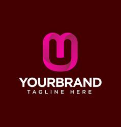u letter gradient icon logo design and elegant vector image