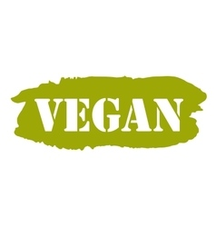 Vegan hand drawn isolated label vector image