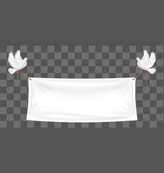 vinyl banners backdrop with white pigeon and ropes vector image