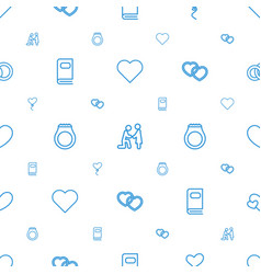 Wedding icons pattern seamless white background vector