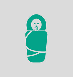 wrapped infant ico vector image
